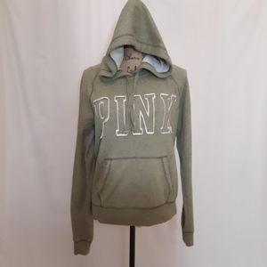 PINK, sage green hoodie,  med. VEC. BOGO
